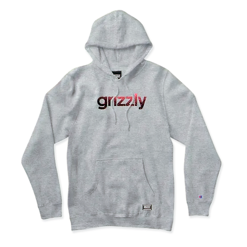 Grizzly lowercase Fadeaway Hoodie