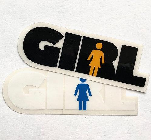 """Girl over Girl Sticker 4"""""""