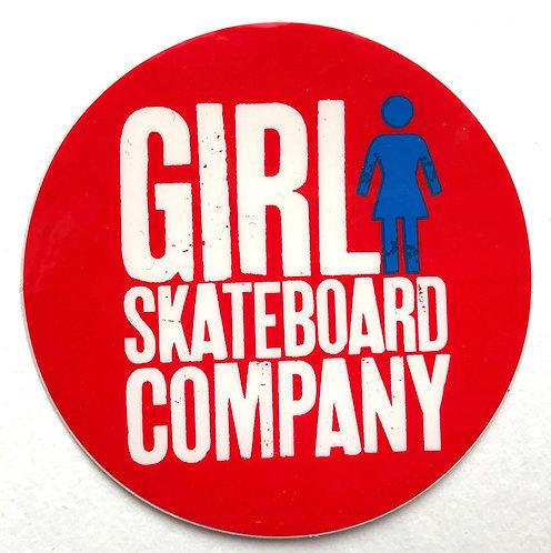 "Girl skateboard company round logo Sticker 3"""