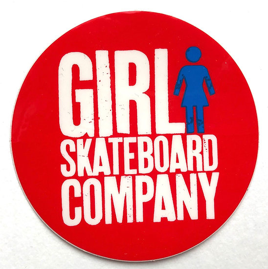 Girl skateboard company round logo Sticker 3""