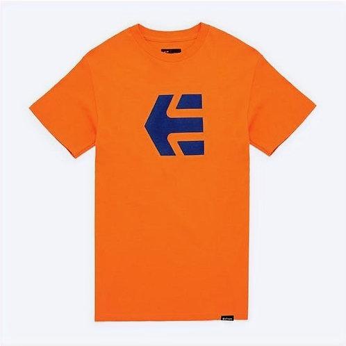 Etnies Icon Tee Orange - Blue