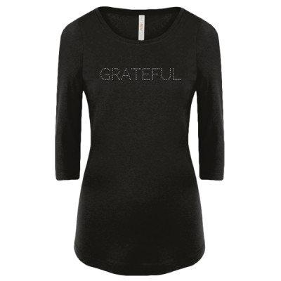 Premium Women's 3/4 Sleeve Tee -GRATEFUL