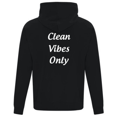 Unisex Zip Hoodie - CLEAN VIBES ONLY