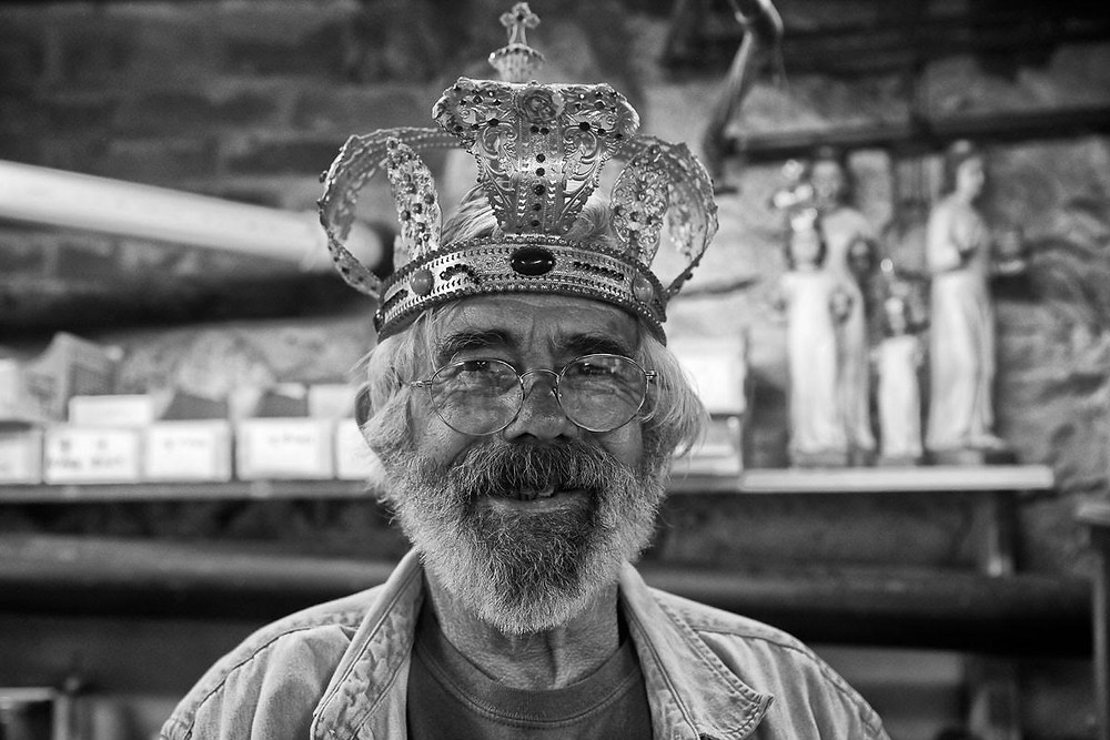 Man wearing a religious crown