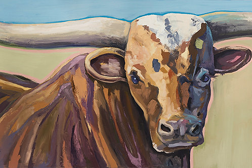 Print / Facing The Impasto Bull