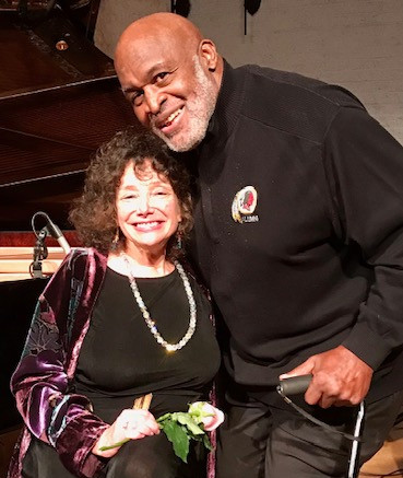 Duet with my old friend and master of ceremonies Dick Smith Redskin/Bluesman; the Westminster DC crowd was the best audience ever and the night ended with a glorious standing ovation! What a night!!!