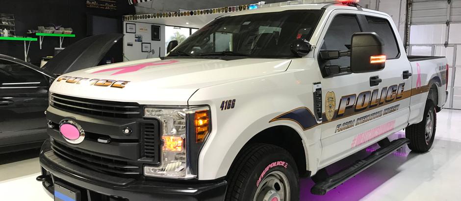 Florida International University Police Breast Cancer Awareness Vehicles