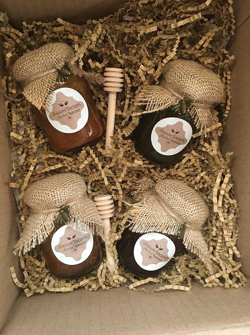 Herbal Honey Gift Set   Infused Honey
