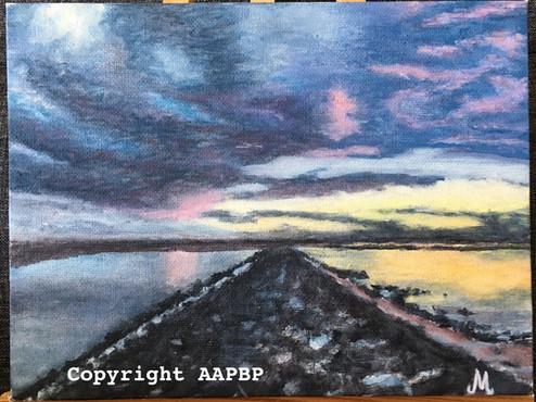 091 couché soleil en baie d'Authie
