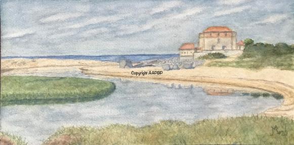 134 l'estuaire de la slack le fort d'Ambleteuse.JPG