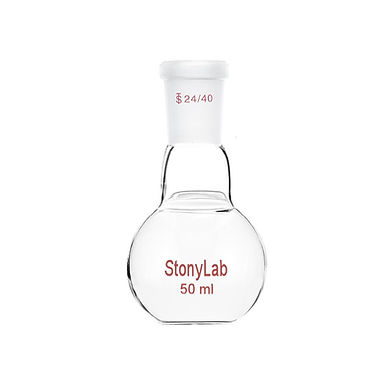 Single Neck Flat Bottom Flask Boiling Flask with 24/40 Joint