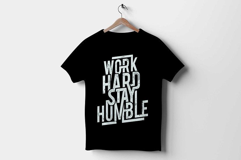 Short-Sleeve Unisex T-Shirt | Work hard stay humble