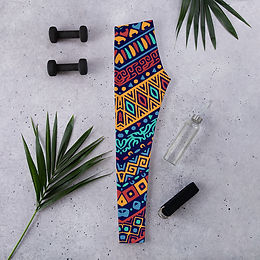 Leggings | Full color pattern with ethnic ornaments