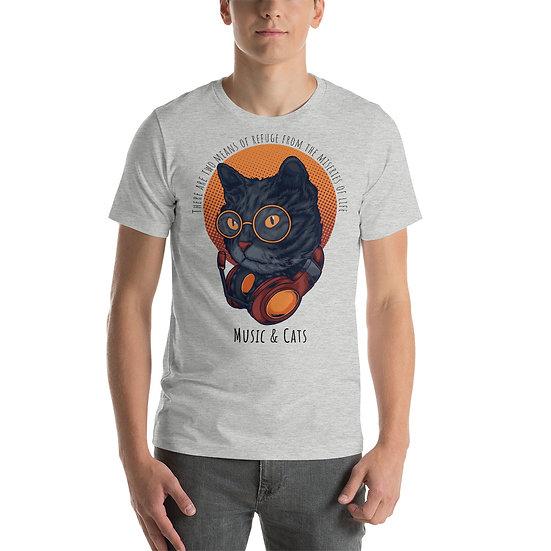 Cat Music | Unisex Premium T-shirt | Bella Canvas 3001