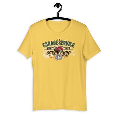 Short-Sleeve Unisex T-Shirt | Garage Service | Speed Shop