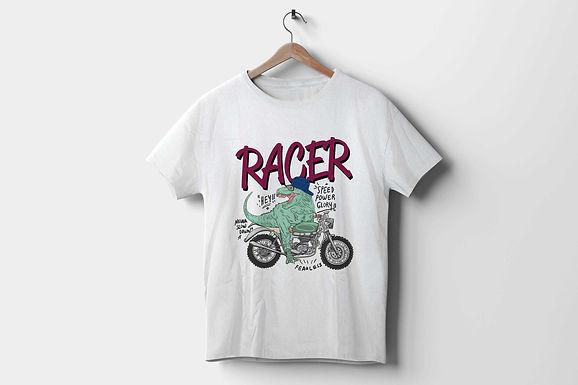 Short-Sleeve Unisex T-Shirt | Racer Dinosaur