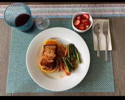 Teriyaki salmon with asparagus