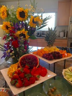 Fruit buffet during a celebration