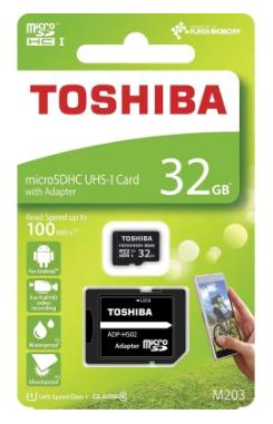 Tarjeta Micro SD MicroSD Toshiba 32 GB