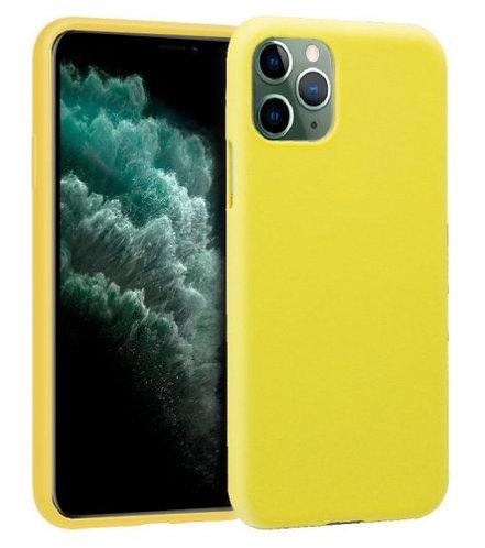 Funda Silicona Amarilla para iPhone 11 Pro Max
