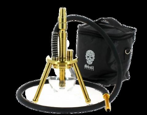 Skull Hookah Ovni XS Stainless Gold