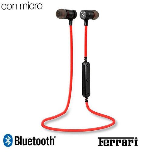 Auriculares Stereo Bluetooth Deportivos Universal Licencia Ferrari Rojo