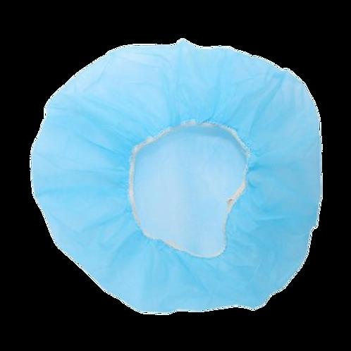 Gorros desechables bolsa por 100 uds, 53 cm, azul.