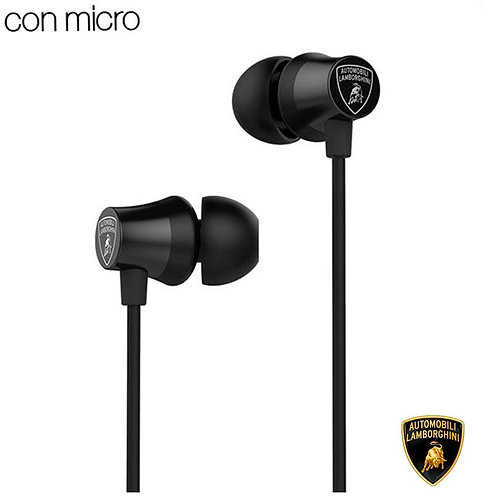 Auriculares Botón Stereo Jack 3.5 mm Licencia Oficial Lamborghini