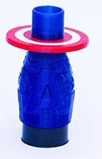 Boquilla 3D Capitan America