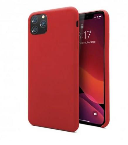 Funda Silicona Roja para iPhone 11