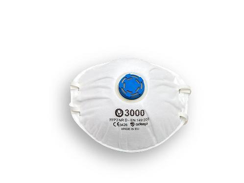 Mascarilla filtrante desechable OLYMPO 3000 FFP3 con válvula.