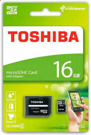Tarjeta de Memoria MicroSD 16 GB Toshiba Clase 4 THN-M102K0160M2 - MEMORY CARD