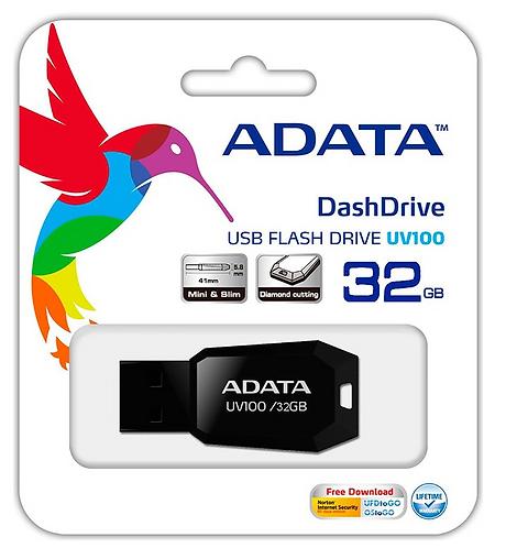 Adata UV100 32GB USB 2.0 Negro