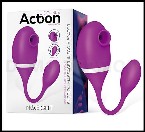 ACTION No. Eight Vibrador de Clítoris y Punto G USB Silicona
