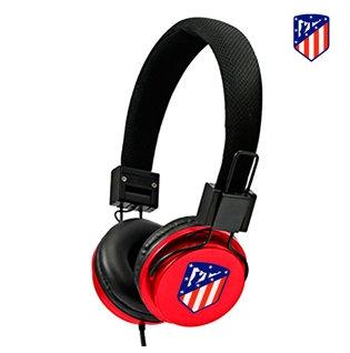 Auriculares Cascos Jack 3,5 mm Licencia Fútbol Atlético de Madrid