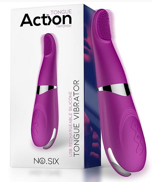 ACTION No. Six Lengua Vibradora de Clítoris y Punto G USB Silicona