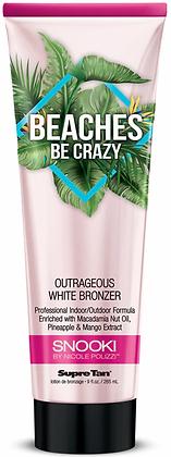 Supre Tan Snooki Beaches Be Crazy White Bronzer Tanning Lotion 9 oz