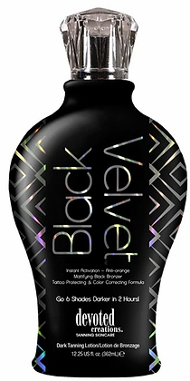 Devoted Creations Black Velvet Mattifying Black Bronzer Tanning Lotion 12.25 oz