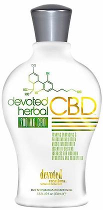 Devoted Creations Herbal CBD 200mg Dark Tanning Lotion 12.25 oz