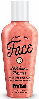 Pro Tan All About That Face BB Facial Bronzer Tanning Lotion 2 oz