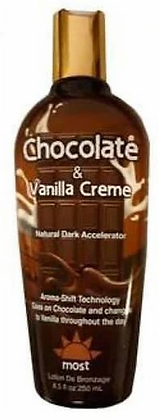 Most Chocolate & Vanilla Creme Natural Dark Accelerator Tanning Lotion 8.5 oz