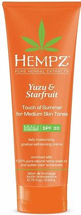 Hempz Yuzu & Starfruit Touch of Summer Medium Skin Tones Moisturizer