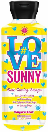 Supre Tan #Love Sunny Dark Bronzer Tanning Lotion 10.1 oz