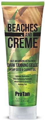 Pro Tan Beaches and Creme Hemp Dark Tanning Gelee Tanning Lotion 8.5 oz
