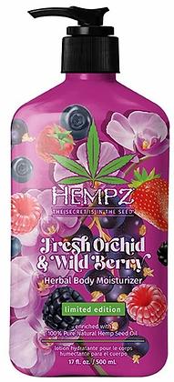 Hempz Fresh Orchid & Wild Berry Moisturizer - 17oz - Limited Edition!