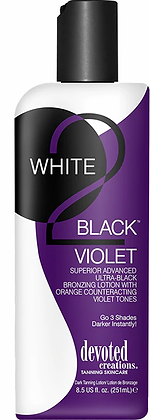 Devoted Creations White 2 Black Violet Tanning Lotion
