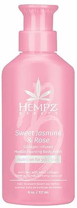 Hempz Beauty Sweet Jasmine & Rose Herbal Foaming Body Wash 8 oz