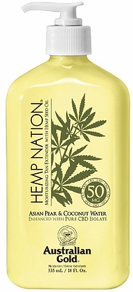 Australian Gold Hemp Nation Asian Pear & Coconut Water Tan Extender 18 oz