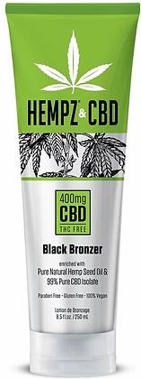 Hempz & CBD 400mg Black Bronzer Tanning Lotion 8.5 oz