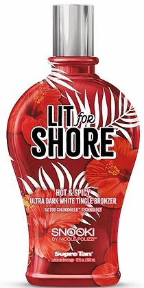 Supre Tan Snooki Lit for Shore White Tingle Bronzer Tanning Lotion 12 oz